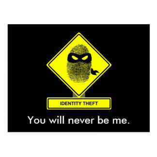 Identitäts-Diebstahl-Postkarte Postkarte
