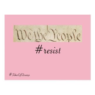 Ides des Trumpfs wir der Leute-Widerstand Postkarte