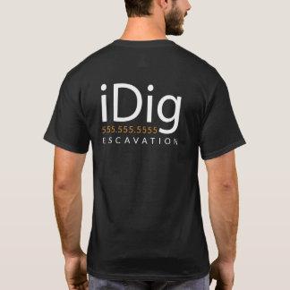 iDIG. Bagger. Löffelbagger-Betreiber. Geschenk und T-Shirt