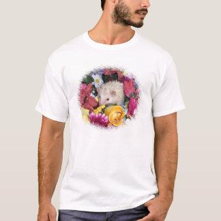 Igel gewunden in den Blumen T-Shirt