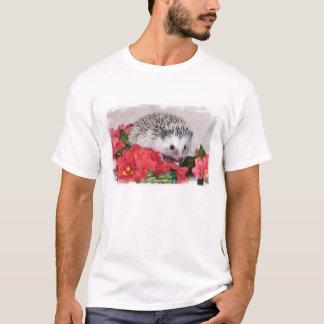 Igel mit orange Blumen T-Shirt