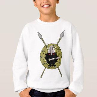 Igel Wikinger auf Schild Sweatshirt