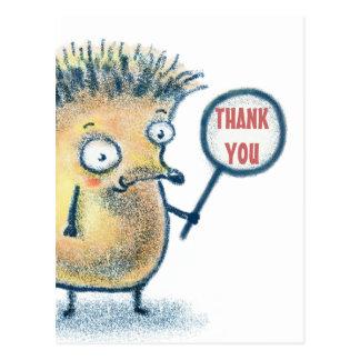 Igels-Illustrations-Kinder danken Ihnen Postkarte