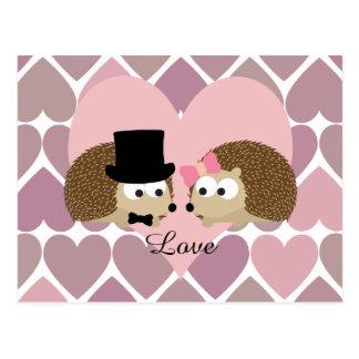 Igels-Liebe mit Herzen Postkarte