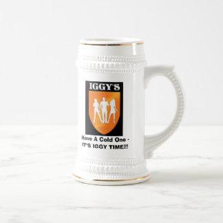Iggy'sLogo, haben ein kaltes - ES Bierglas