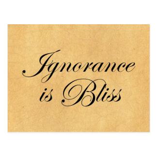 Ignoranz ist Bliee Postkarte