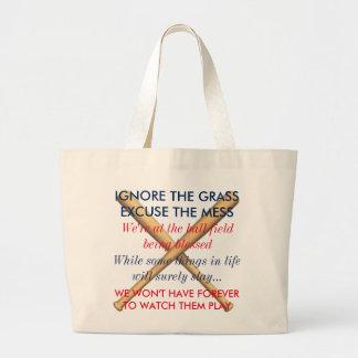 Ignorieren Sie das Gras. Entschuldigen Sie die Jumbo Stoffbeutel