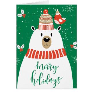 Ihnen ein Beary Weihnachten sehr wünschen Karte