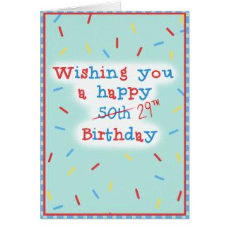 Ihnen ein glückliches 50. wünschen… 29. Geburtstag Karte
