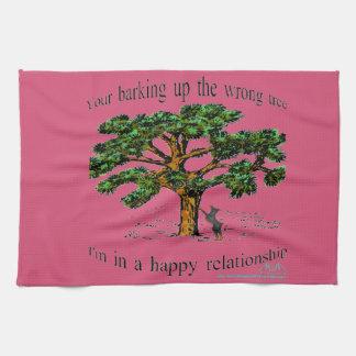 Ihr Abstreifen herauf den falschen Baum Küchentuch