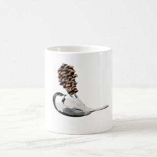 Ihr auserlesene Hand gezeichnetes Chickadee-Set Kaffeetasse