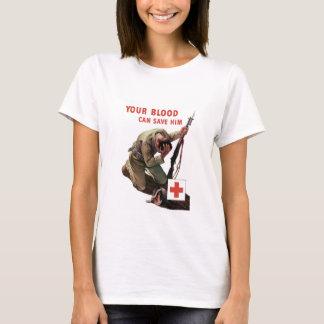 Ihr Blut kann ihn retten -- Rotes Kreuz T-Shirt