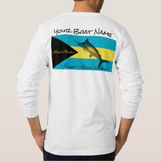 Ihr Boots-Name mit der Bahamas-Flagge und einem T-Shirt
