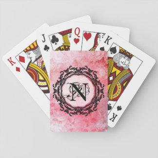 Ihr Buchstabe-altes Vintages romantisches Spielkarten