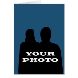 Ihr Foto-12x18 vertikaler Gruß Karte