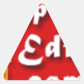 Ihr Foto auf einem Sonderdruck-Produkt Dreiecks-Aufkleber