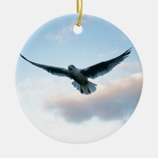 Ihr freies gerade wie Jonathan Livingston Rundes Keramik Ornament