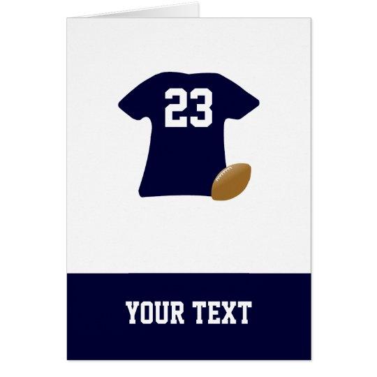 Ihr Fußball-Shirt mit Ball-Geburtstags-Karte Grußkarte