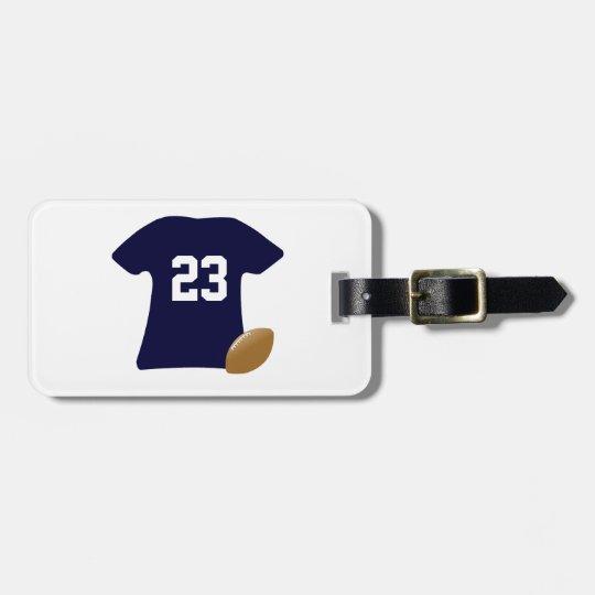 Ihr Fußball-Shirt mit Ball Gepäckanhänger