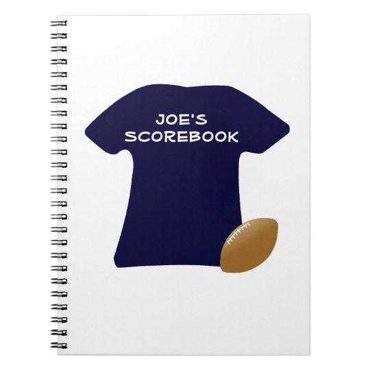 Ihr Fußball-Shirt mit Ball-Notizbuch Notizbücher