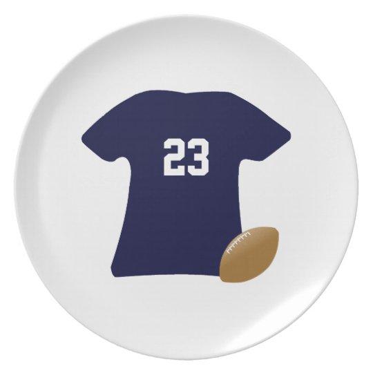 Ihr Fußball-Shirt mit Ball v2 Melaminteller