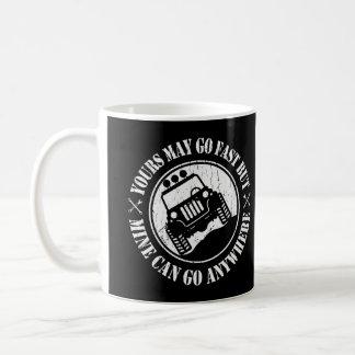 Ihr geht zwar schnell, aber Bergwerk kann überall Kaffeetasse