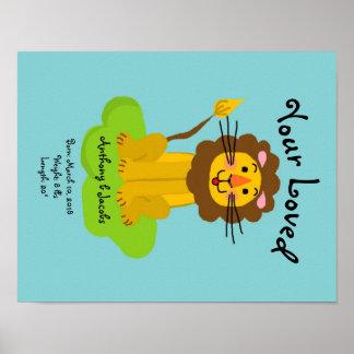 Ihr geliebtes Baby-Geburts-Plakat Poster