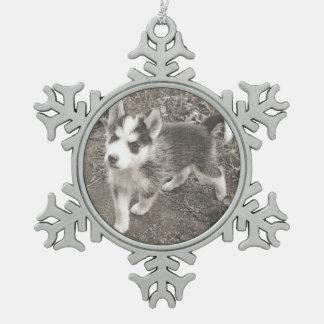 Ihr Haustier in einer Zinn-Schneeflocke durch Dal Schneeflocken Zinn-Ornament