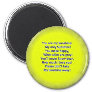 """Ihr ist mein Sonnenschein 2 1/4"""" runder Magnet"""