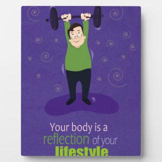 Ihr Körper ist eine Reflexion Ihres Lebensstils Schautafel