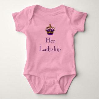 Ihr Ladyship-königliches Baby-neugeborenes Baby Baby Strampler