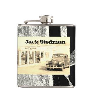 Ihr Name auf dieser Retro Limousine-Flasche Flachmann