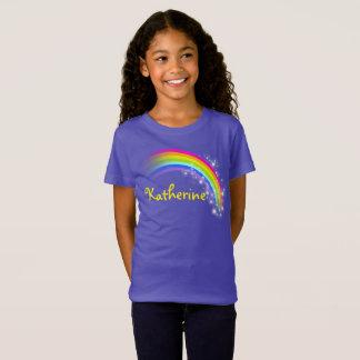 Ihr Name bis zur Regenbogen-Veilchenspitze mit 9 T-Shirt