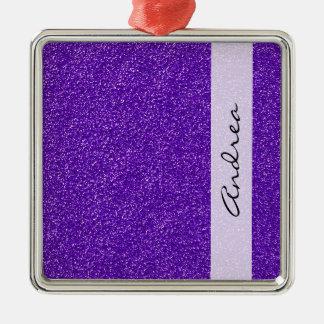 Ihr Name - glänzender Glitter, Glitter-Glühen - Silbernes Ornament