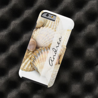 Ihr Name - Seashells, Cockleshells - Brown-Weiß Tough iPhone 6 Hülle