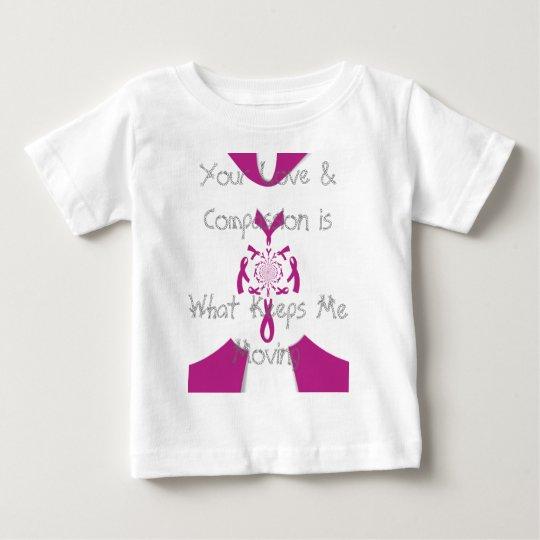Ihr Sorgfalt-Liebe und Mitleid Krebs-Band Baby T-shirt