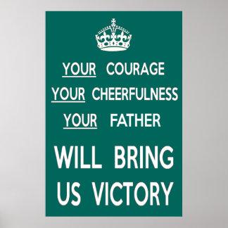 Ihr Vater holt uns Sieg Poster
