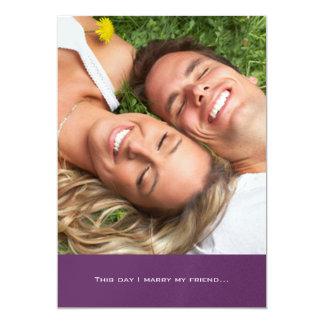 Ihre Foto-Hochzeits-Einladung heirate ich meinen 12,7 X 17,8 Cm Einladungskarte