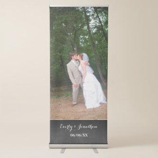Ihre Foto-Hochzeits-Fahne Ausziehbarer Banner