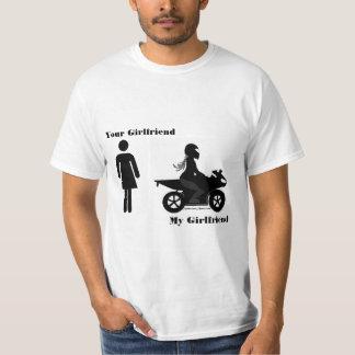 Ihre Freundin, mein Freundin-Motorrad T-Shirt