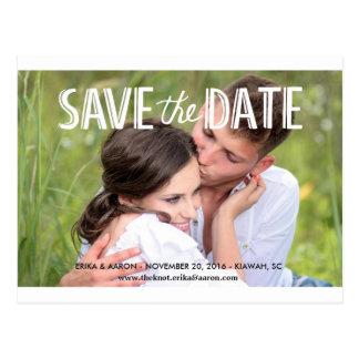 Ihre Gewohnheits-Save the Date Postkarte