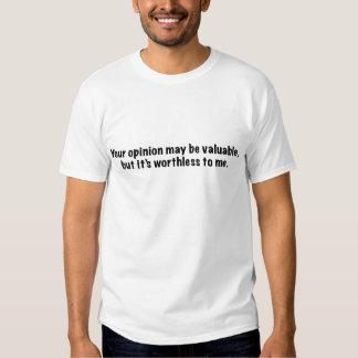 Ihre Meinung (gotische Schrift) Hemd