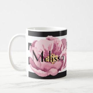 Ihre rosa Namensmohnblume Kaffeetasse