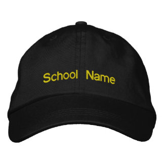 Ihre Schule gestickte Kappe Bestickte Baseballcaps
