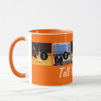 Ihre Selbst sagen Ihrer Geschichte 5 orange Tasse