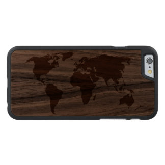 Ihre Welt - Carved® iPhone 6 Hülle Walnuss