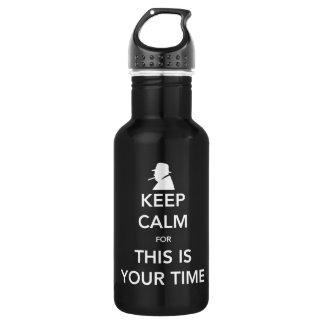 Ihre Zeit-dunkle Wasser-Flasche Trinkflasche