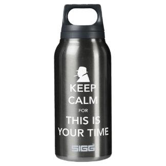 Ihre Zeit dunkles Sigg heiße u. kalte Flasche