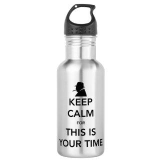 Ihre Zeit-Wasser-Flasche Trinkflasche
