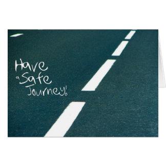 Ihrem Freund eine sichere Reise wünschen Karte